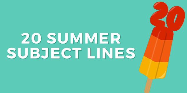20 Free Automotive Subject Lines To Sweeten Your Summer